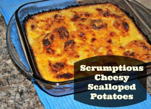 Scrumptious Cheesy Scalloped Potatoes #Recipe