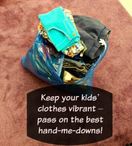 Keep your kids' clothes vibrant – pass on the best hand-me-downs!  #ChurchAndDwight