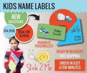 Stick 2 Me Labels – Keeping Your Kids Stuff Where It Belongs, With You!