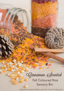 Crafting Cinnamon Scented Fall Colored Rice Sensory Bins – Simple 4 Step Guide