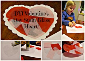 Valentine's DIY Stain Glass Decorations