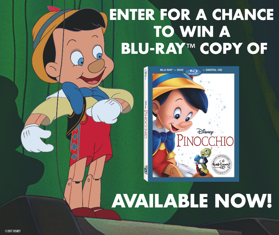 Pinocchio Giveaway