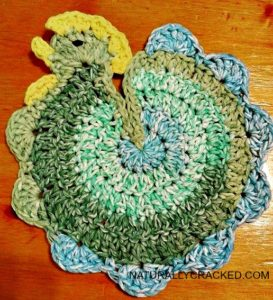 How to Crochet A Chicken Potholder #Tutorial