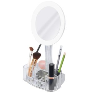 LED Magnified Mirror and Cosmetic Holder from ToiletTree #GIVEAWAY