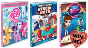 Valentines Round-up featuring: My Little Pony, Littlest Pet Shop and Transformers DVDs (Giveaway)