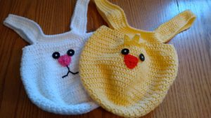 Gifting Made Easy with These Crocheted Bunny and Chick Easter Bags