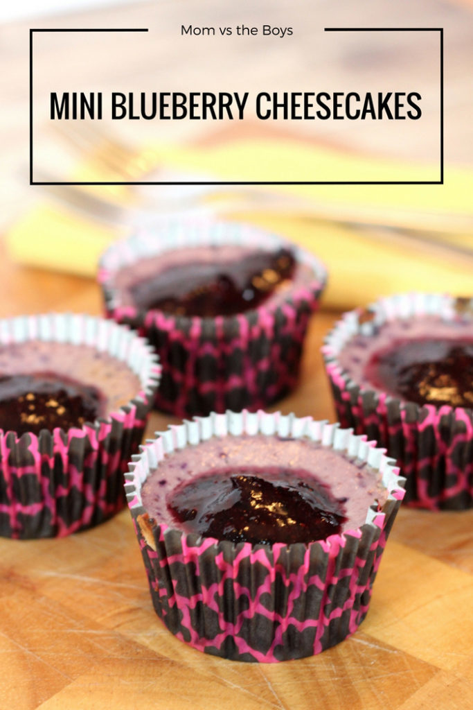 Mini Blueberry Cheesecakes #Recipe - Naturally Cracked