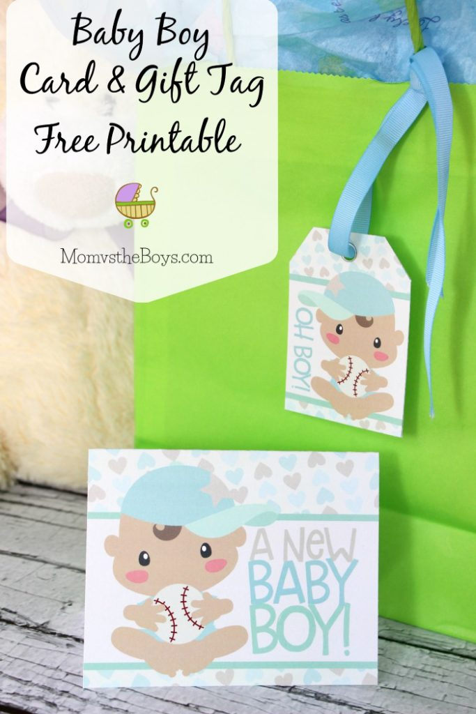 Baby Shower Card and Gift Tag